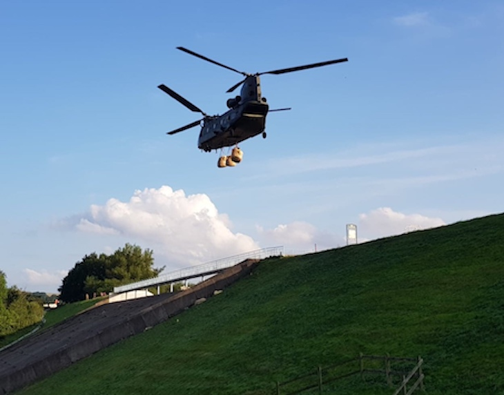 Chinook Helicopter Toddbrook Reservoir