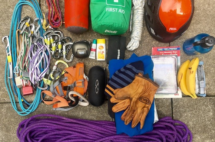 What to pack for scrambling